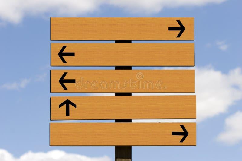 Panneau-réclame en bois photographie stock libre de droits