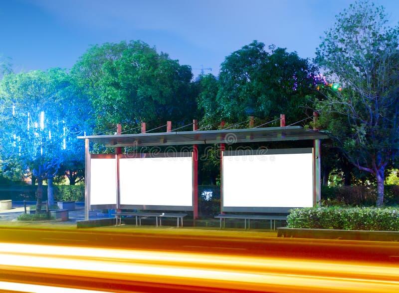 Panneau-réclame (nuit) photos libres de droits