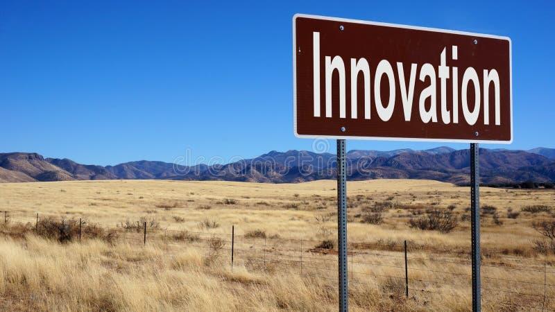 Panneau routier brun d'innovation photos stock