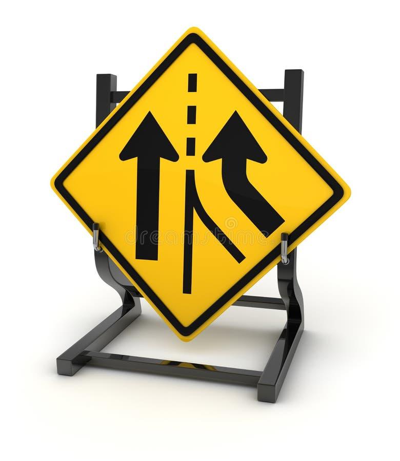 Panneau routier - carrefour illustration de vecteur