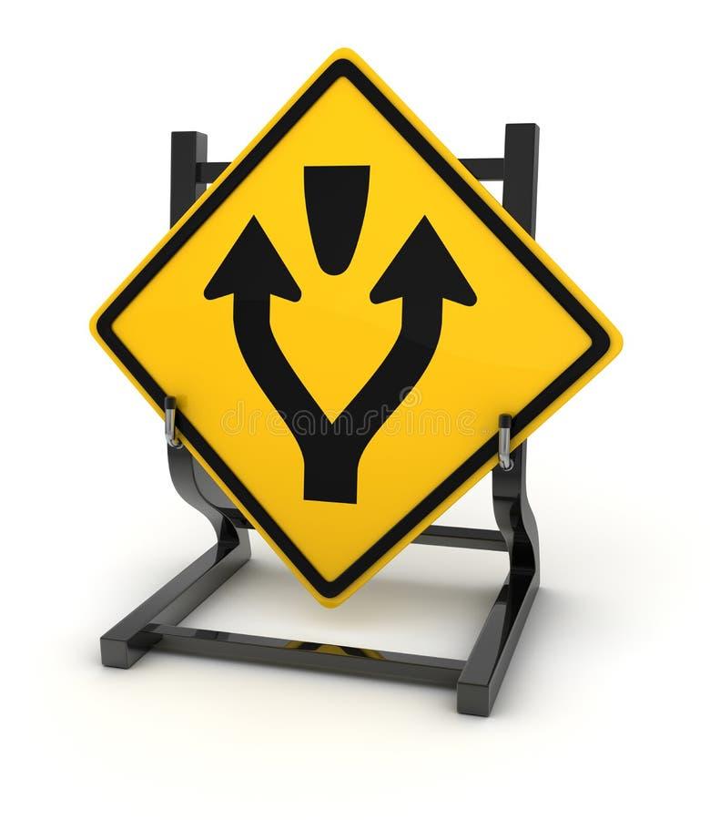 Panneau routier - carrefours illustration libre de droits