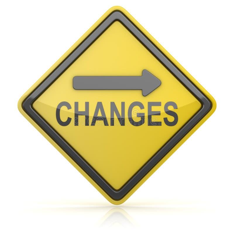 Panneau routier - changements en avant illustration de vecteur
