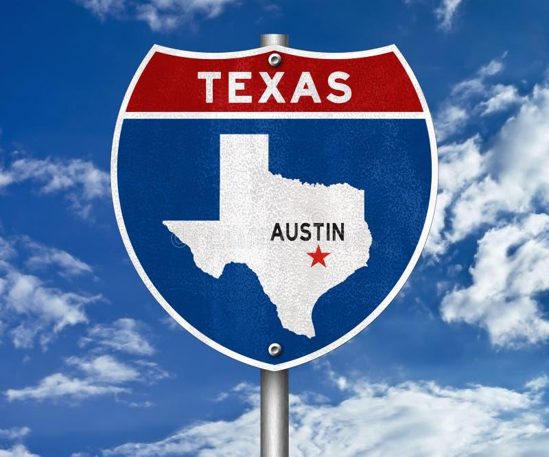 Panneau routier d'Austin Texas illustration de vecteur