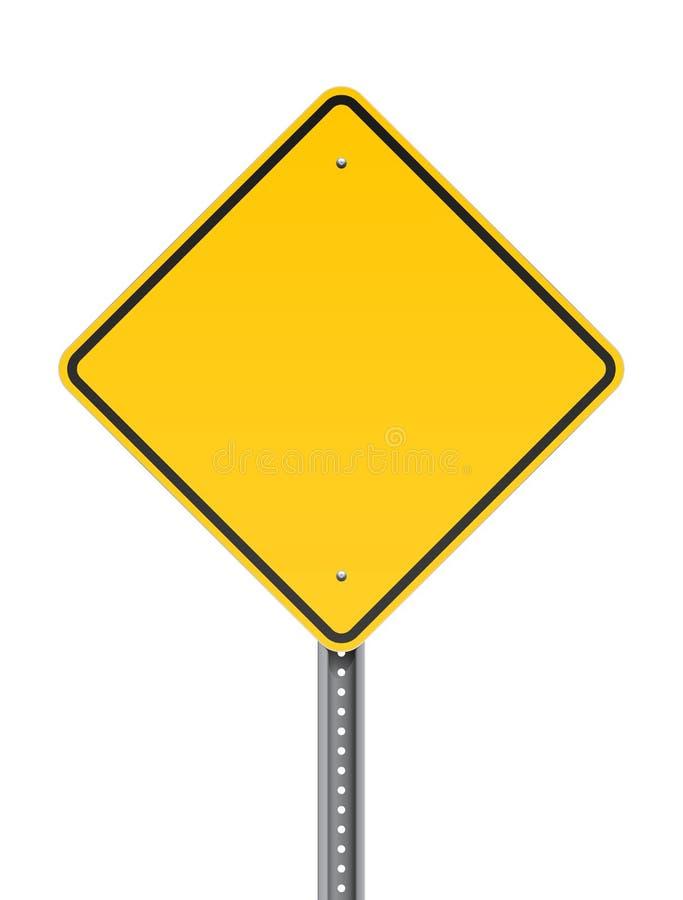 Panneau routier d'avertissement vide illustration de vecteur