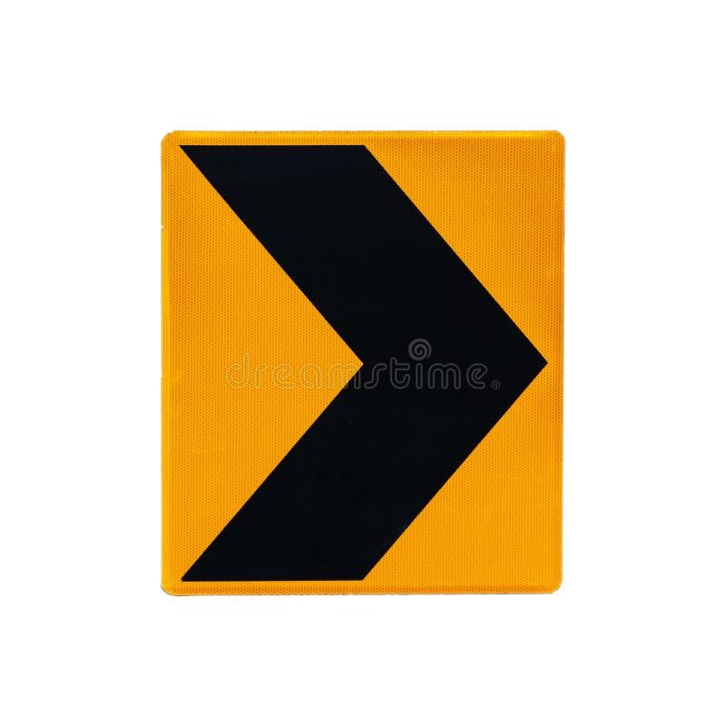 Panneau routier dangereux de tour d'isolement sur le blanc photos libres de droits