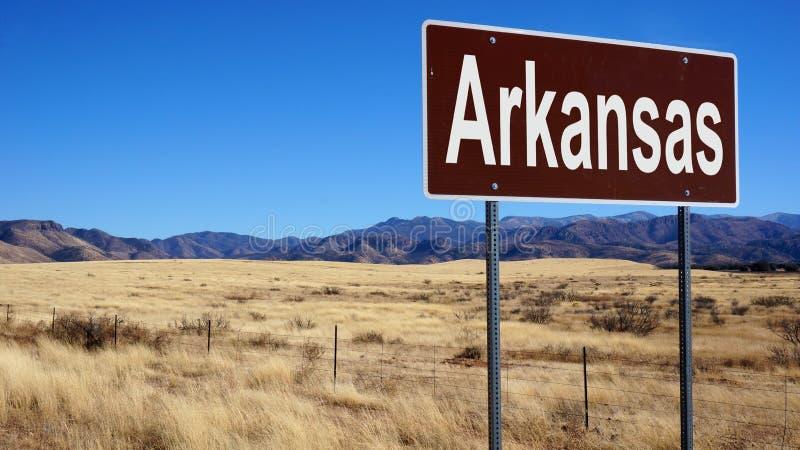 Panneau routier de brun de l'Arkansas photos libres de droits