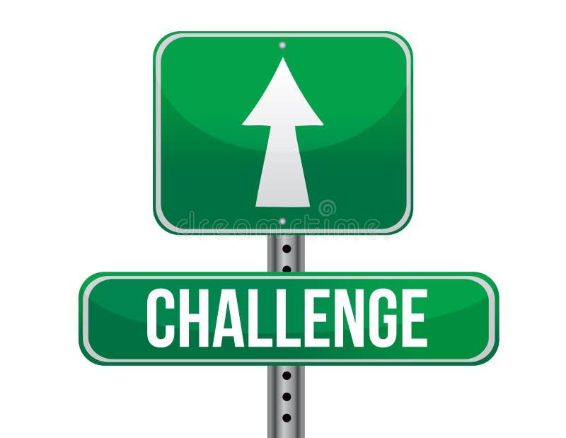 Panneau routier de défi illustration stock