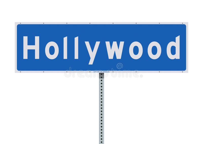 Panneau routier de Hollywood illustration libre de droits