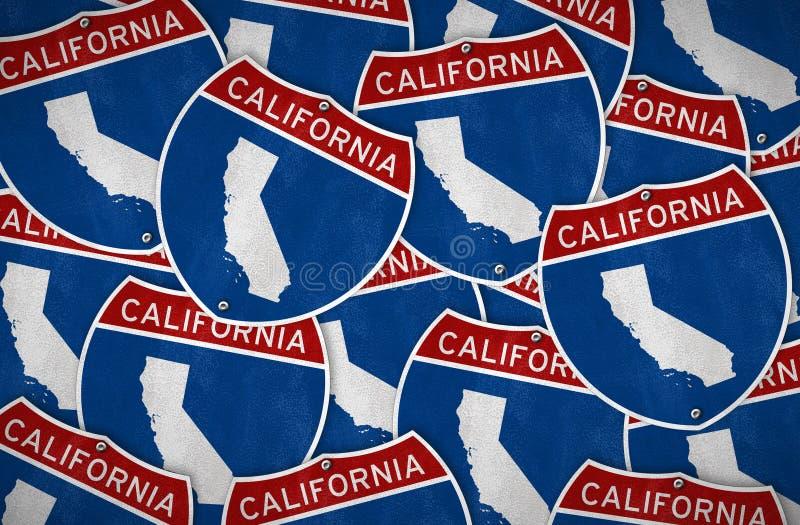Panneau routier de la Californie illustration stock