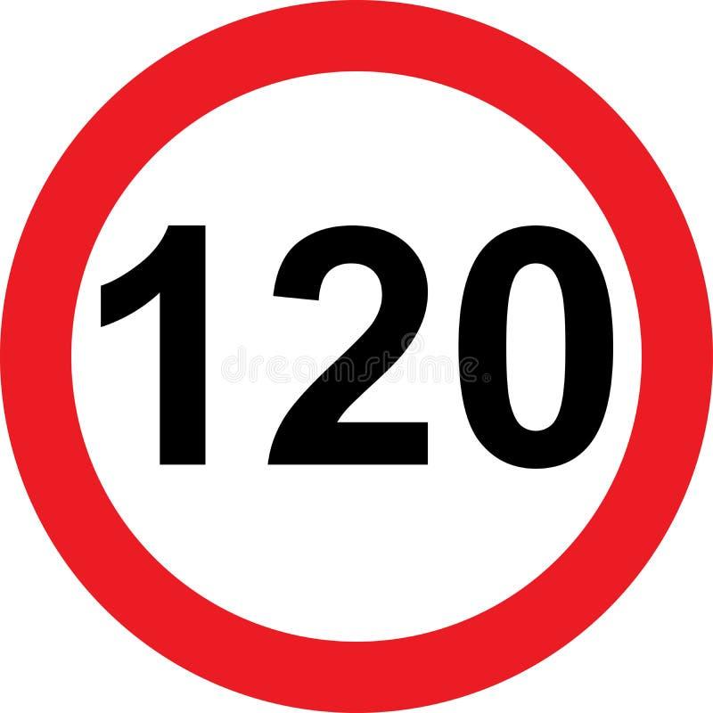 panneau routier de limitation de 120 vitesses illustration stock illustration du kilom tres. Black Bedroom Furniture Sets. Home Design Ideas