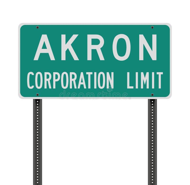 Panneau routier de limite de société d'Akron illustration de vecteur