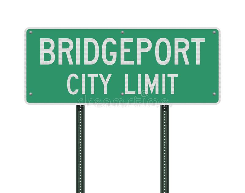 Panneau routier de limite de ville de Bridgeport illustration de vecteur