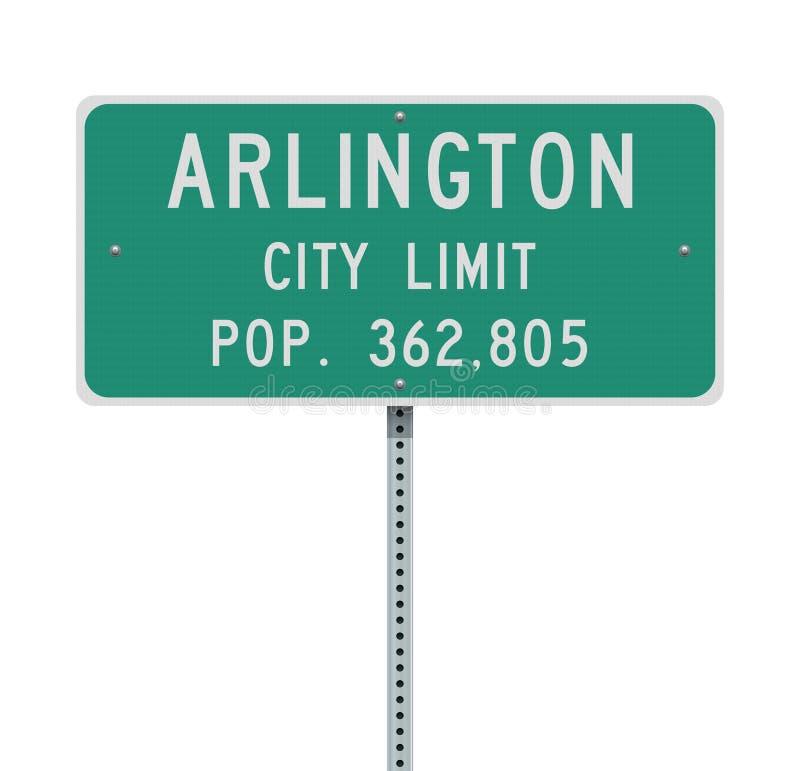 Panneau routier de limite de ville d'Arlington illustration de vecteur
