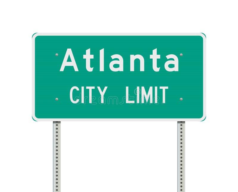Panneau routier de limite de ville d'Atlanta illustration stock