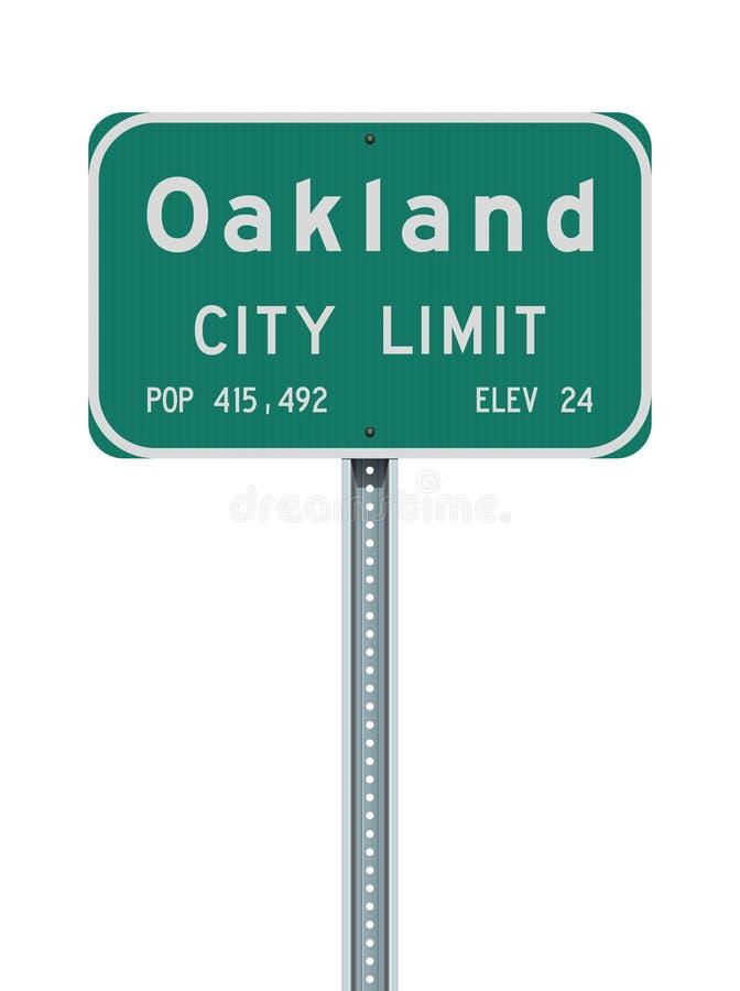 Panneau routier de limite de ville d'Oakland illustration de vecteur