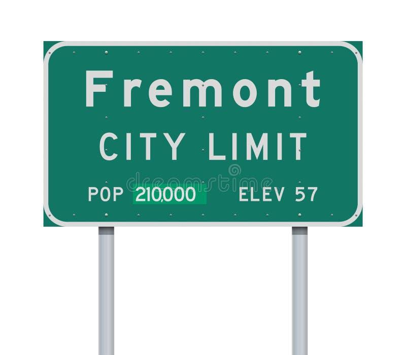 Panneau routier de limite de ville de Fremont illustration stock