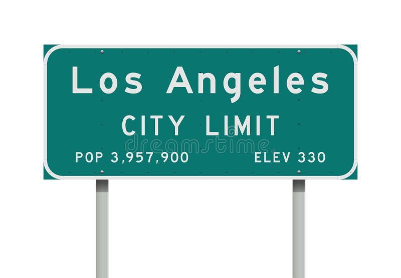Panneau routier de limite de ville de Los Angeles illustration stock