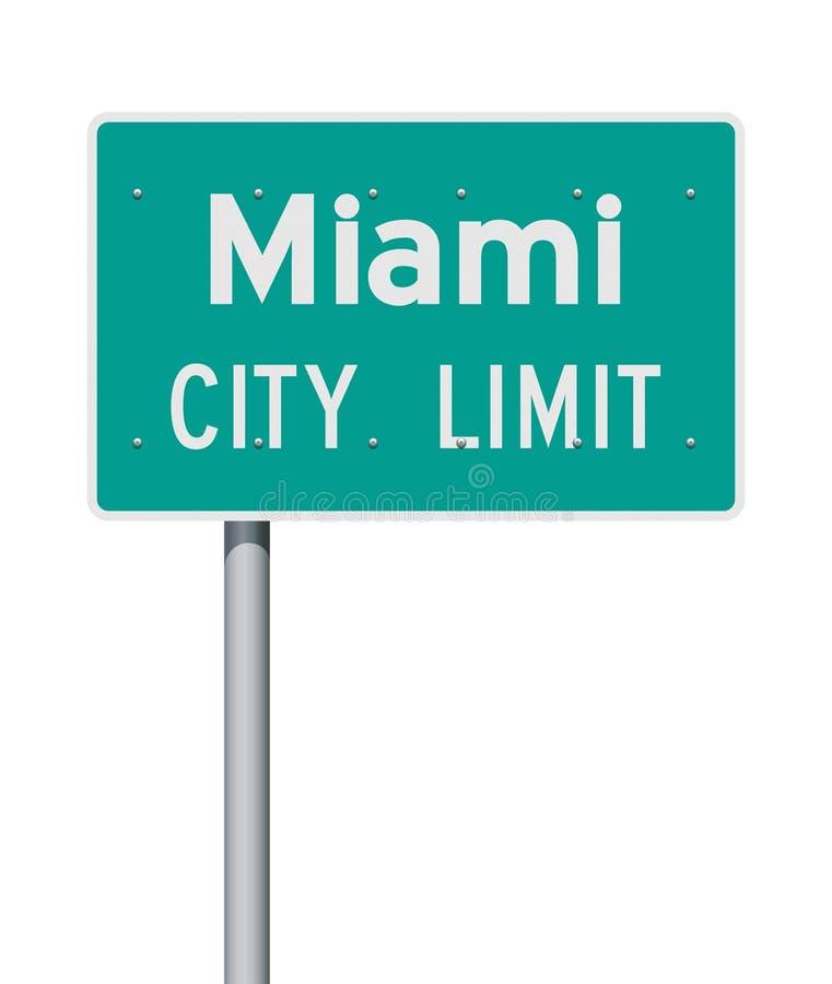 Panneau routier de limite de ville de Miami illustration de vecteur