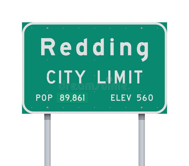 Panneau routier de limite de ville de Redding illustration de vecteur