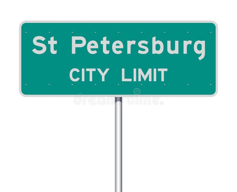 Panneau routier de limite de ville de St Petersburg illustration de vecteur