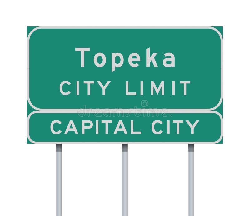 Panneau routier de limite de ville de Topeka illustration libre de droits