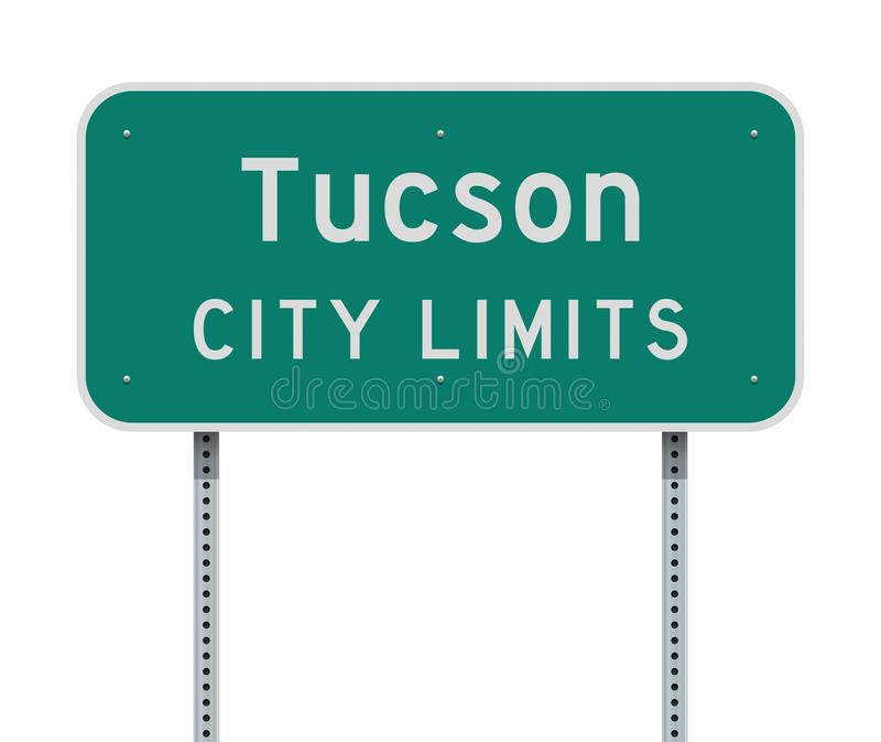 Panneau routier de limite de ville de Tucson illustration libre de droits