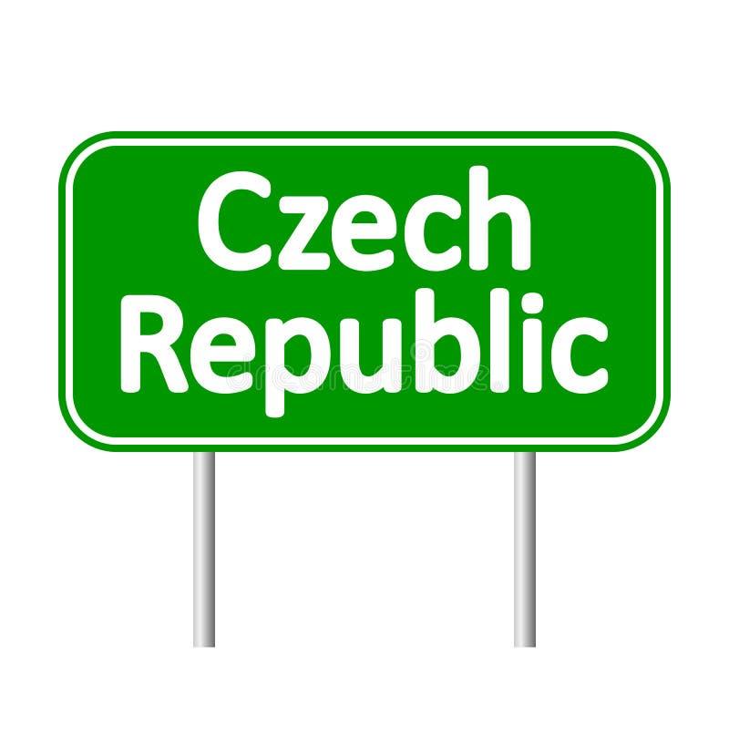 Panneau routier de République Tchèque illustration de vecteur