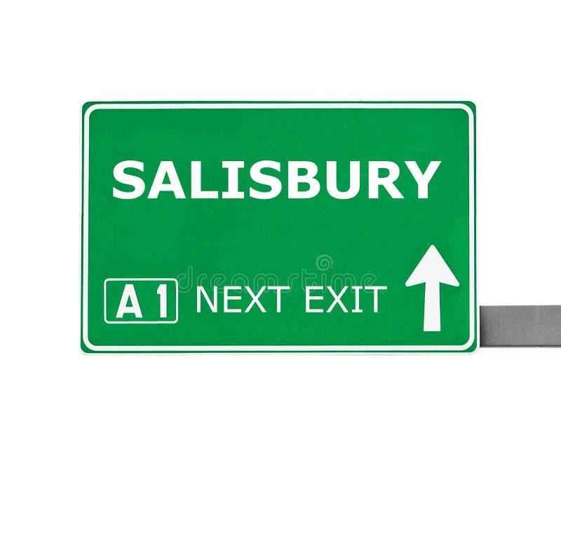 Panneau routier de SALISBURY d'isolement sur le blanc images stock