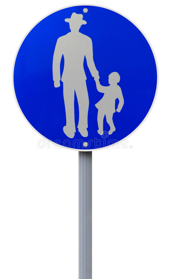panneau routier de sentier pi ton photo stock image du signe route 30497084. Black Bedroom Furniture Sets. Home Design Ideas