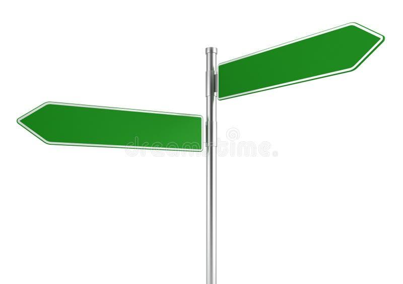 Panneau routier directionnel illustration libre de droits