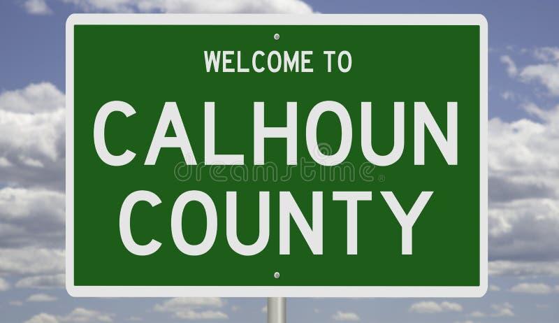 Panneau routier du comté de Calhoun image libre de droits