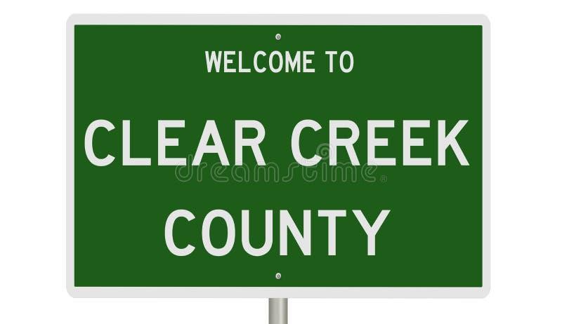 Panneau routier du comté de Clear Creek illustration stock