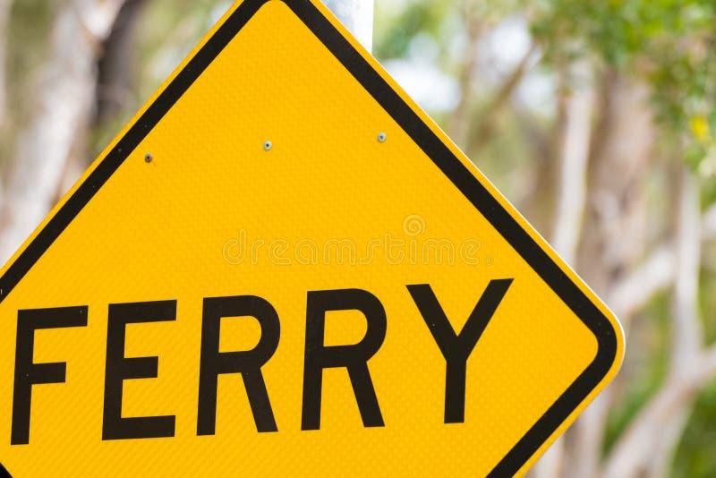 Panneau routier du trafic de croisement de ferry photo stock