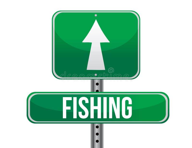 Panneau routier du trafic de pêche illustration stock