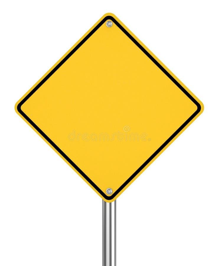 panneau routier jaune vide sur le fond blanc illustration stock illustration du image. Black Bedroom Furniture Sets. Home Design Ideas