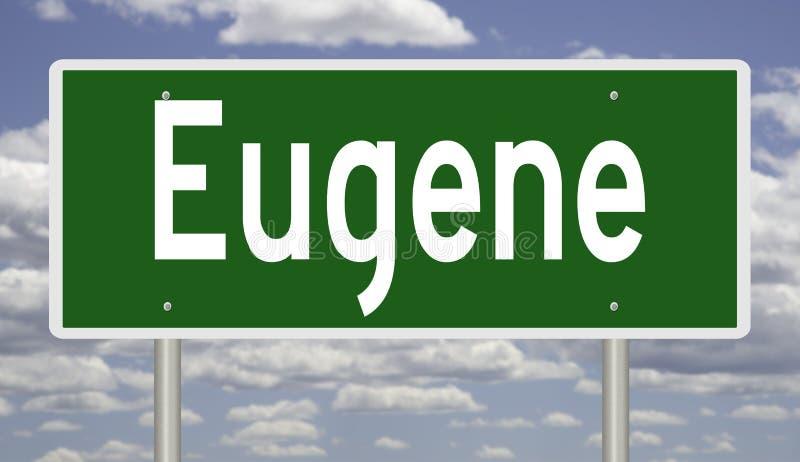 Panneau routier pour Eugene Oregon illustration libre de droits