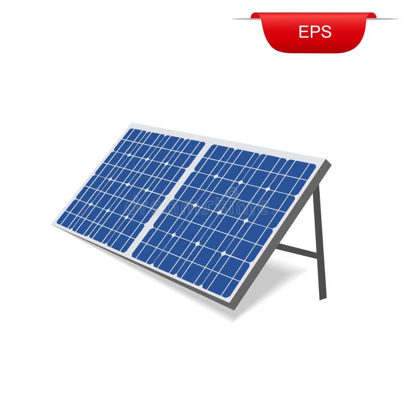 Panneau solaire, énergie renouvelable, illustration de vecteur illustration stock