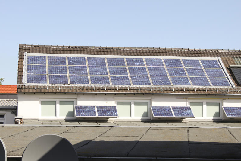 Panneau solaire photos libres de droits