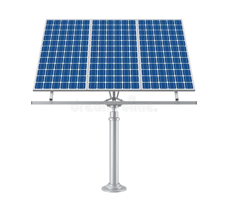Panneau solaire d'isolement illustration de vecteur