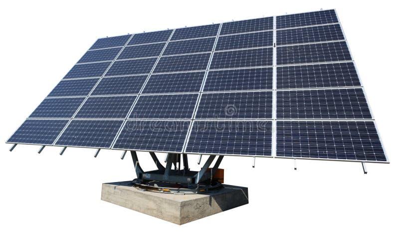 Panneau solaire d'isolement sur le blanc photographie stock