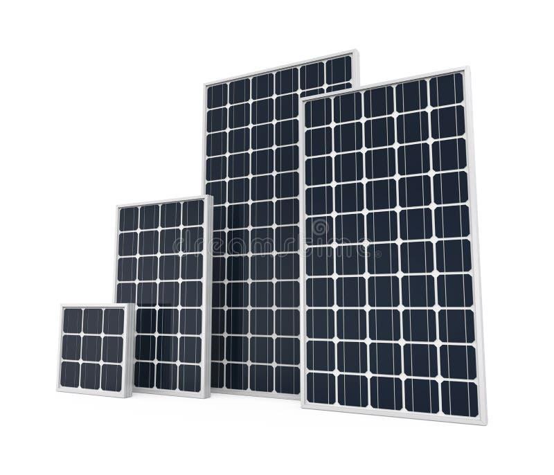Panneau solaire d'isolement illustration stock