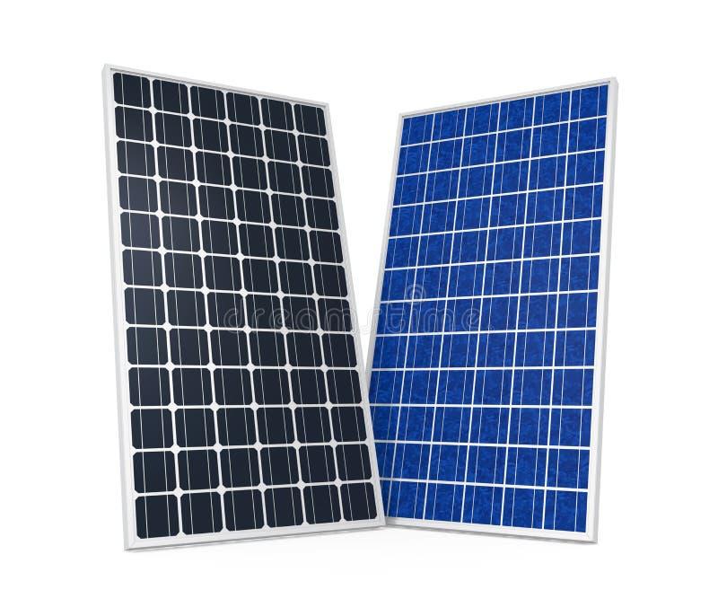 Panneau solaire d'isolement illustration libre de droits