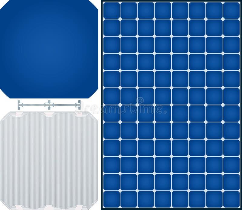 Panneau solaire de rendement élevé de la cellule 96 monocristalline illustration de vecteur