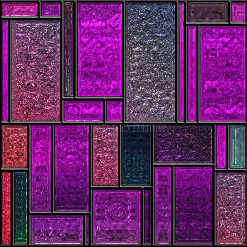 Panneau texturisé mauve sans joint en verre souillé illustration libre de droits