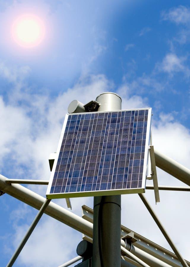 Panneau thermique solaire d'énergie de substitution  image libre de droits