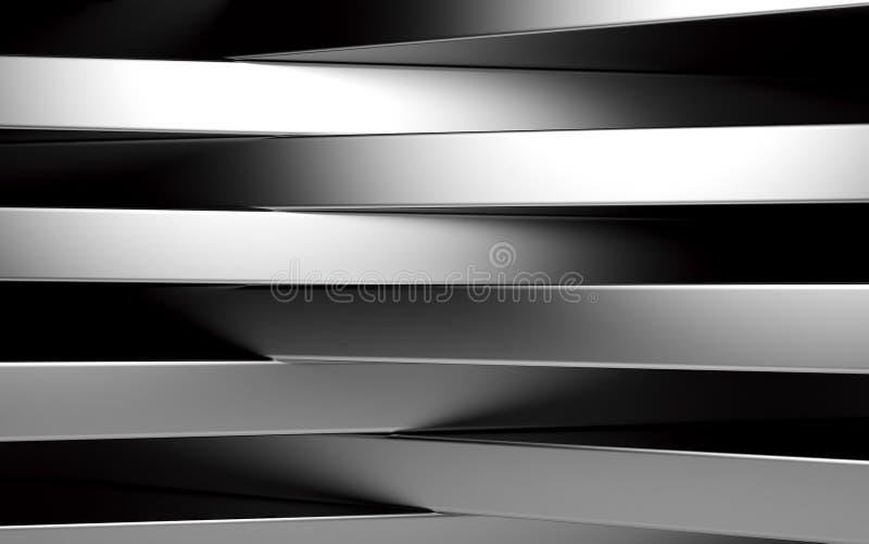 Panneaux argentés abstraits avec le copyspace pour le texte 3d rendent illustration de vecteur