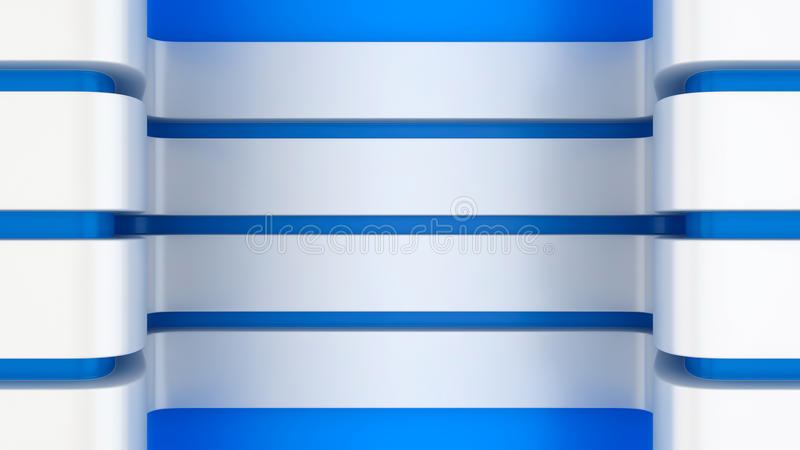 Panneaux blancs sur le bleu illustration de vecteur