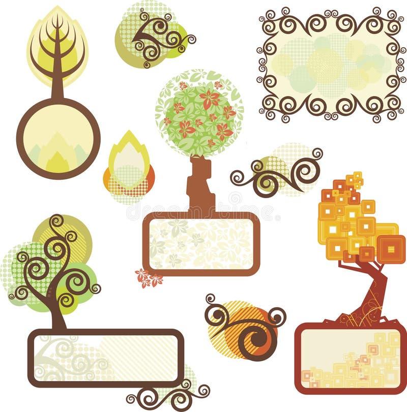 Panneaux d'arbre illustration stock