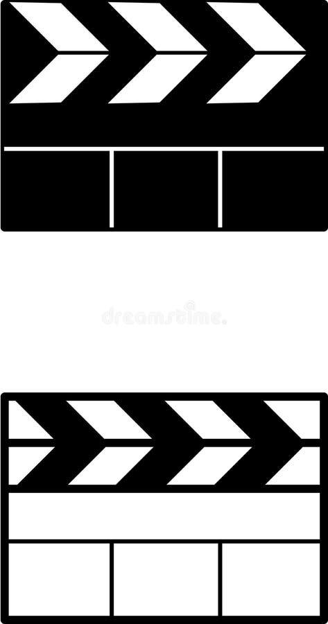 Panneaux d'ardoise de film illustration stock
