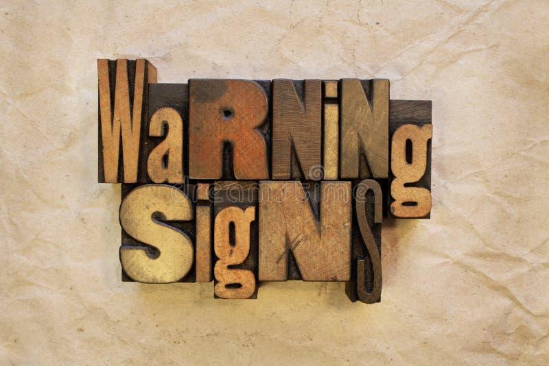 Panneaux d'avertissement photographie stock libre de droits